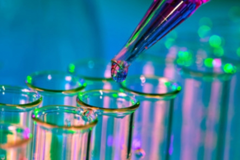 Test tubes and pipetting