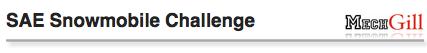 SAE Snowmobile Challenge