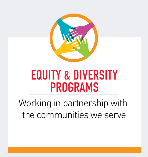 Equity & Diversity Programs - Working in partnership with the communities we serve
