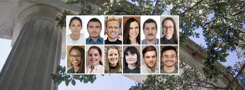Collage of graduate and postdoc student winners