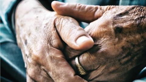 Hands of the elderly