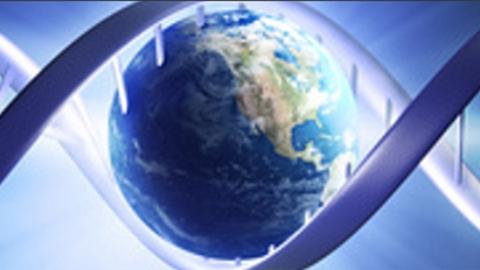 Globe in a DNA strand
