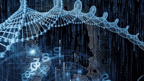 High tech DNA image