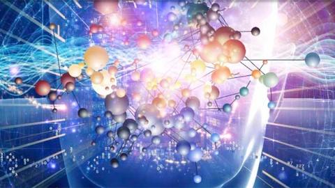 High tech atomic image