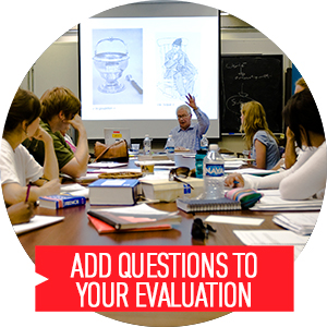 Add questions to your course evaluation