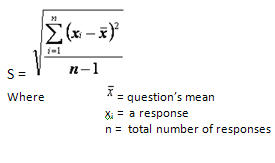 Formula for standard deviation of the mean