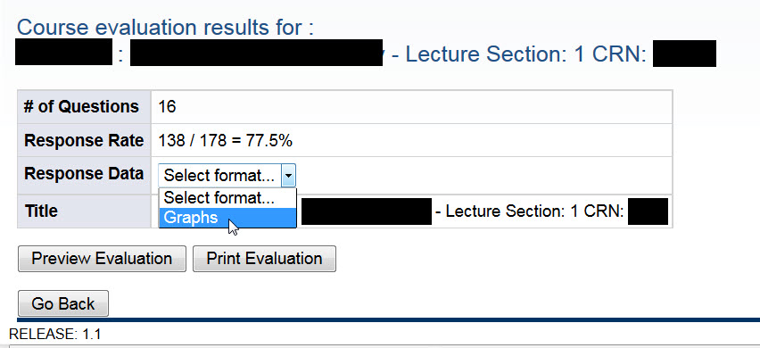 TA results, select graphs