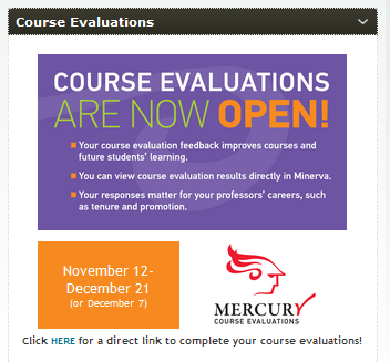 Course evaluations widget