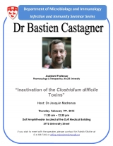 "Dr Castagner, Feb 19, ""Inactivation of the Clostridium difficile Toxins"""