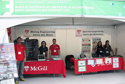 Students representing McGill at Eureka science festival