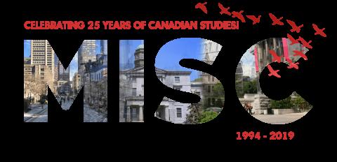 MISC logo, celebrating 25 years of Canadian studies, 1994-2019