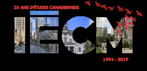 Logo IECM; 25 ans d'études canadiennes; 1994-2019