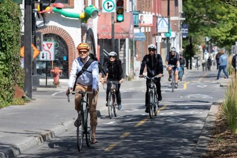 Cyclists in Montreal. Photo: Owen Egan