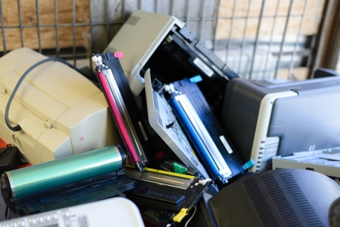 Electronics in garbage