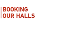 button link to students and staff hall and room booking information