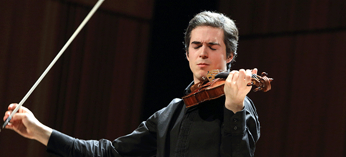 Victor Fournelle-Blain winner of the Golden Violin Competition