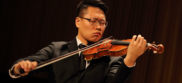 Byungchan Lee winner of the Golden Violin Competition