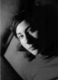 Black and white photo of Myriam Boucher