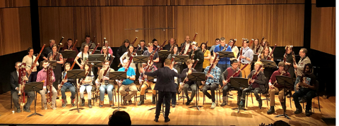 musicians playing bassoons led by Prof. Stephane Levesque