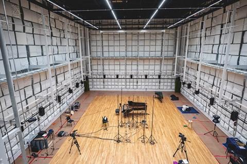 Sound recording acoustic studio