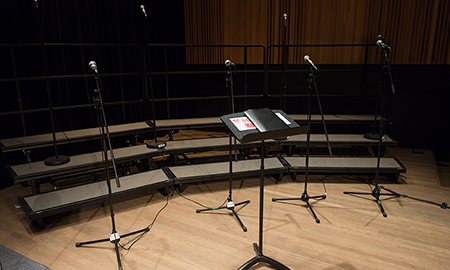 Empty stage at the Schulich School of Music