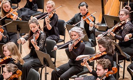 Violinists in concert