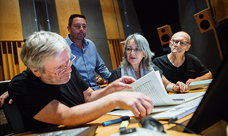 Four  sound recording faculty members