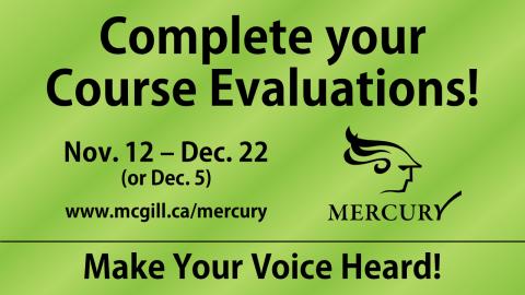 Mercury - Course Evaluations
