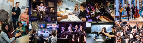 Collage of activities around Schulich School of Music