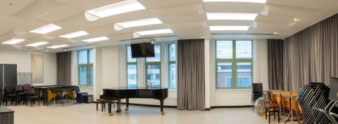 View of a classroom in the Schulich School of Music