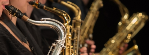 Close-up of saxophone players, Schulich School of Music, McGill University