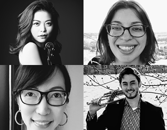 Photo of four International Grant Award winners 2020-2021