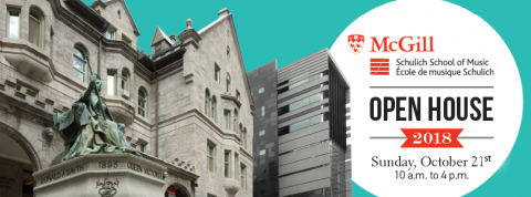 Schulich School of Music Open House 2018 banner