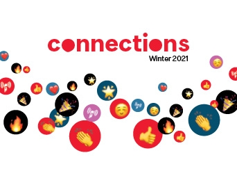 colorful graphc for the Winter 2021 Events Calendar