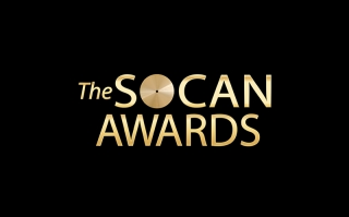 Gold and black logo of the SOCAN Awards.