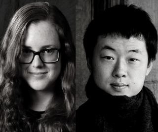 Side-by-side headshots of (left to right) Chelsea Komschlies and Zhuosheng Jin