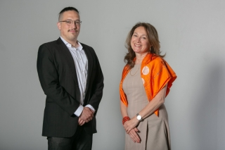 David Therrien Brongo and Claire Marchand, General and Artistic Director of CMCQuébec.