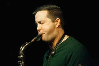 Donny Kennedy playing saxophone