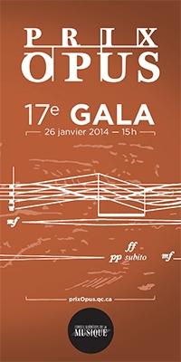 Conseil Québecois de la musique - Prix Opus 2013