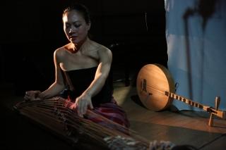 Multi-instrumentalist Jen Shyu.