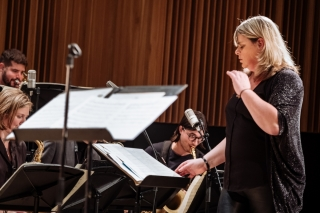 Christine Jensen conducting McGill Jazz Orchestra I.
