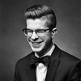 Smiling face of Timothy Ledger, 2017-2018 Schulich School of Music Concerto competition winner in the classical category for piano