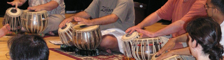 Tabla workshop at McGill University's Schulich School of Music