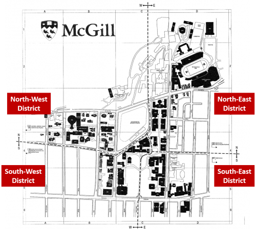 Map of McGill districts