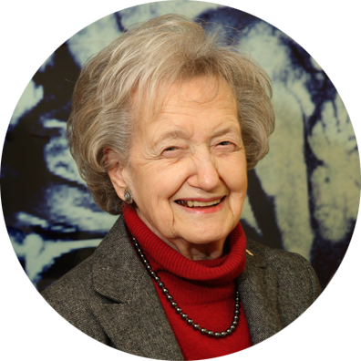 Headshot of Brenda Milner with circle cropping