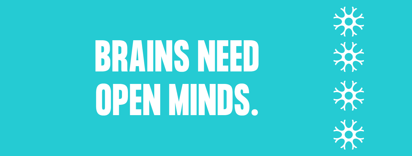 Brains Need Open Minds Logo