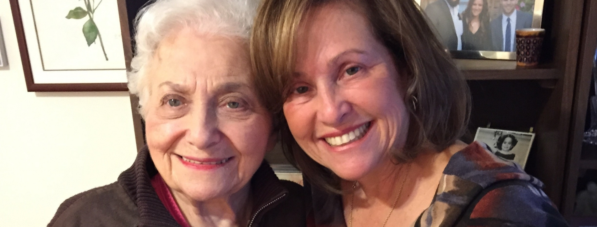 Donna Grossner with her mother, Freda Clavier Edelson.