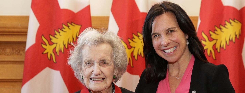 Brenda Milner and Valerie Plante