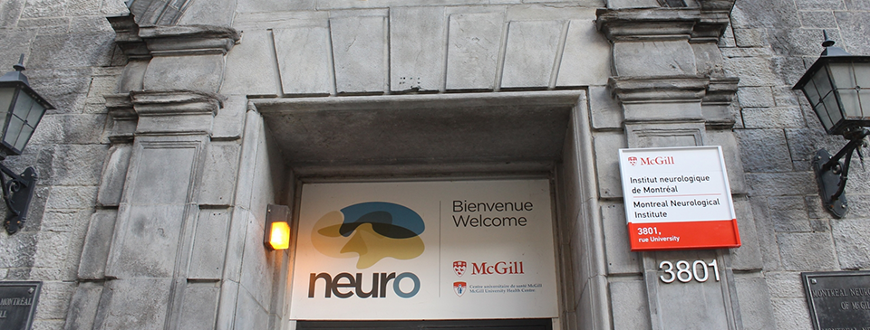 Entrance to The Neuro at 3801 University