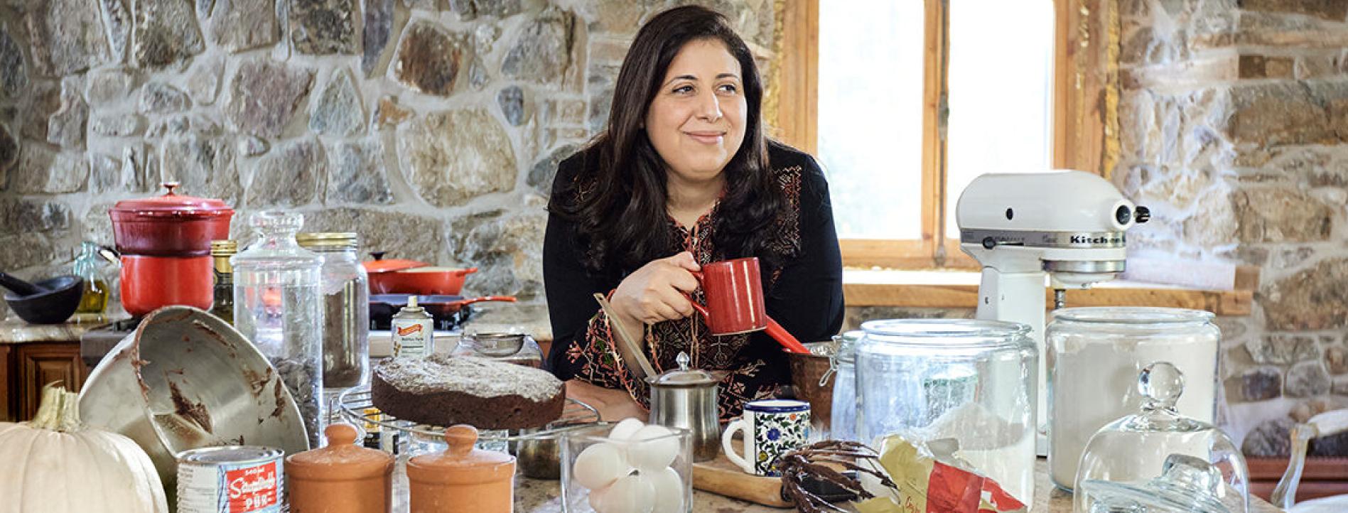 Mayada Elsabbagh in the kitchen